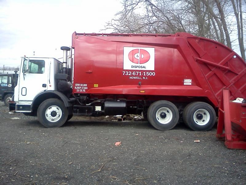 This is our new garbage truck. We now have residential and commercial service!!